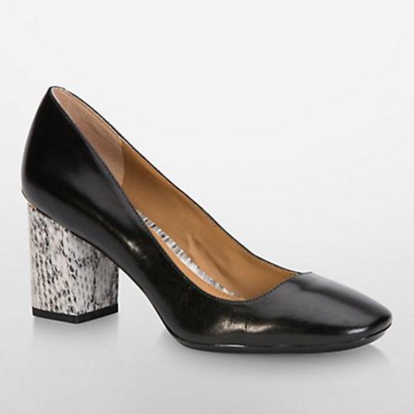 0a56a701a6 Calvin Klein Shoes | Cirilla Snake Heel Pump Nwob | Poshmark